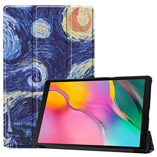 HoYiXi Custodia per Samsung Galaxy Tab A 10.1 2019 Ultra Sottile Case in pelle Smart Cover con Supporto Funzione Custodia di Tablet per 10.1 Pollici Galaxy Tab A 2019 T510/T515 - Notte stellata