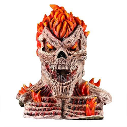 QWEASZER Llama Diablo cráneo máscara máscara de Halloween