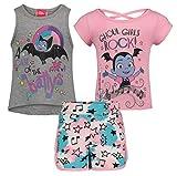 Disney Vampirina Ghoul Girls Rock 3 Piece Tank, Tee and Short Set in Vampirina, 5