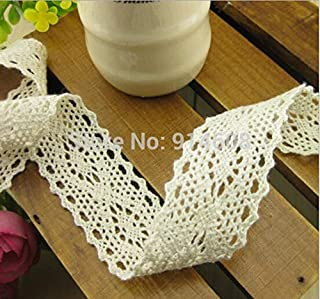 Laliva Wholesale Garment Accessories 10m/lot Off White Color 28mm Crochet Cotton Lace Yarn,