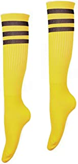Calcetines largos del fútbol del fútbol de los niños del deporte encima del calcetín alto de la rodilla para los muchachos y las muchachas Calcetines rayados del hockey