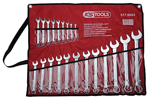 KS Tools 517.0043 CLASSIC Ringmaulschlüssel-Satz, abgewinkelt, 21-tlg. 6-32mm