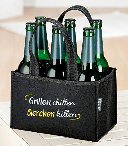 GILDE Filz Flaschentasche Hau wech 24 x...