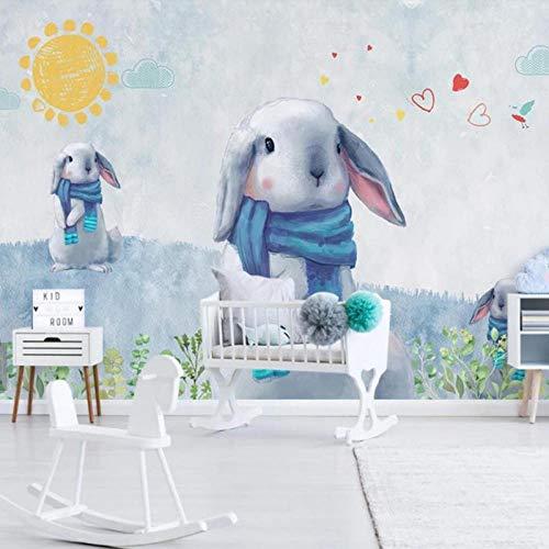 HD foto konijn muurschildering behang, Kids slaapkamer kinderkamer muur Decor groot formaat muurschilderingen 3D 280 cm (B) x 180 cm (H)