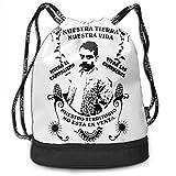shenguang Emiliano Zapata Mochila con cordón Mochila multifunción de Gran Capacidad Ligera Simple portátil