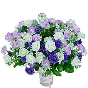 Flores artificiales de uso al aire libre, 4 piezas de plantas artificiales de eucalipto vegetal, plantas artificiales al…