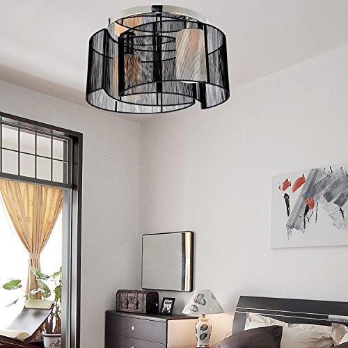 OOFAY LIGHT plafoniera design moderno camera da letto 2 luci nero