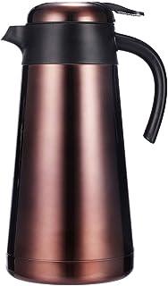 ZCXBHD 断熱ポット家庭用真空断熱ポット304ステンレス鋼オフィスコーヒーとティーポット大容量ブラウン2.2 L