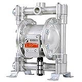 G Bomba Neumática de Doble Diafragma Neumática Bomba Neumática de Aluminio de 1/2' para Trabajo Pesado