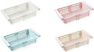 KoelrMsd 4Pcs Réfrigérateur Bac À Légumes Boîte De Rangement Multifonctionnelle Panier Coulissant
