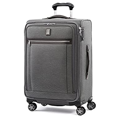 Travelpro Luggage Platinum Elite 25  Expandable Spinner Suitcase with Suiter, Vintage Grey