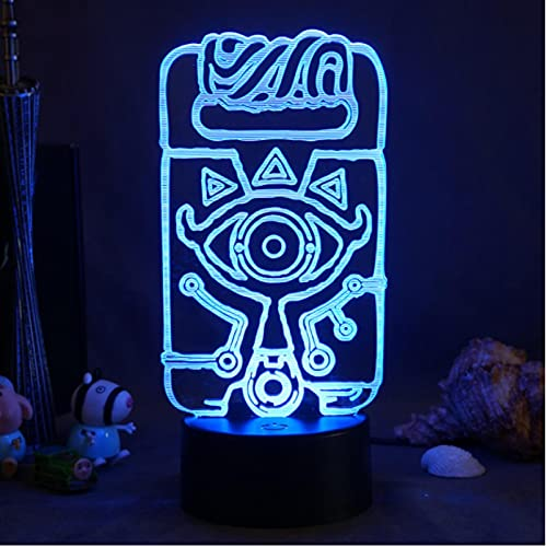 Lámpara 3D Para Sala De Juegos, Luz Ambiental, 7 Colores, Luces Led Nocturnas, Regalos Para Habitación De Amigos, Dormitorio, Lámpara De Ilusión Óptica, Decoración De Mesa De Escritorio