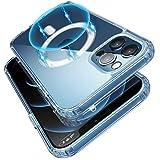 Transparente magnetische Hülle kompatibel mit iPhone 12/12 Pro (6.1