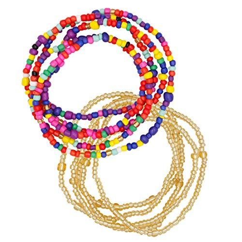 AKAAYUKO Sommer Schmuck Taille Bead Set Afrikanische Taille Perlen Körper Perlen Bauchkette Bikini Waist Beads Körperketten für Damen