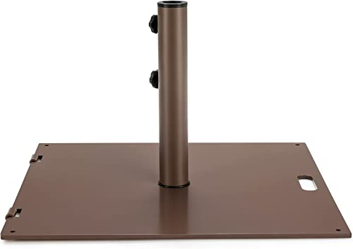 2021 Giantex Patio Umbrella Base, 50 Lbs Steel Heavy Duty Umbrella Stand with Wheels, 24 lowest Inch Square Umbrella Base with 2 Tightening Knobs, Suitable outlet online sale for Backyard, Deck, Poolside, Patio outlet sale
