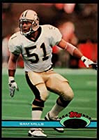 1991 Stadium Club Football #461 Sam Mills New Orleans Saints Official NFL Trading Card From The Topps Company in Raw (NM or Better) Condition
