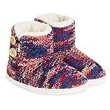 Zapatillas de Mujer con Perro Peluche Super Suave Zapatilla de Invierno Mujeres (40/41 EU, Punto púrpura)