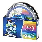 Verbatim バーベイタム 1回録画用 ブルーレイディスク BD-R DL 50GB 10枚 ホワイトプリンタブル 片面2層 1-4倍速 VBR260YP10SV2