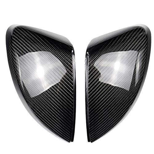 DJQNB Cubiertas de Espejo, página de 1 par de automóviles para A3 S3 8V RS3 Alas Laterales Cubiertas de Espejo (Carbono) 2017 Reemplace 2013 2014 2015 20