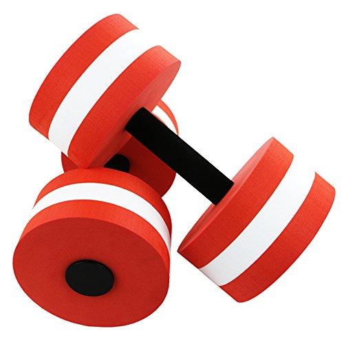 Buy A&I Ailike Aqua Barbells Foam Dumbbells Hand Bars Water Weights for Pool Aerobics Exercise (Red)
