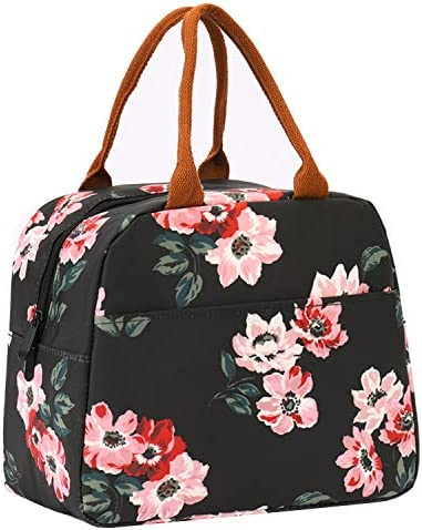 Insulated Lunch Bags for Women Cooler Tote Bag with Front Pocket Lunch Box Reusable Lunch Bag product image