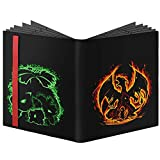 360 Card Fitted Full View 9 Pocket Compatible with Pokemon Cards Sleeves-Binder Case Gifts