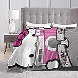 Boweike Manta de franela Hello Kitty Tomar foto suave y acogedora manta para cama sofá silla otoño invierno primavera sala de estar