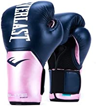 Everlast Elite Pro Style Training Gloves, Pink/Blue, 12 oz