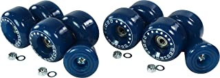 Pacer Roller Skate Wheel Upgrade Kit - Outdoor Replacement Wheels for Quad Skate - Indoor to Outdoor Wheel Conversion Kit - 8 Wheels, 8 Bearings, Lock Nuts, Replacement Toe Stop Included
