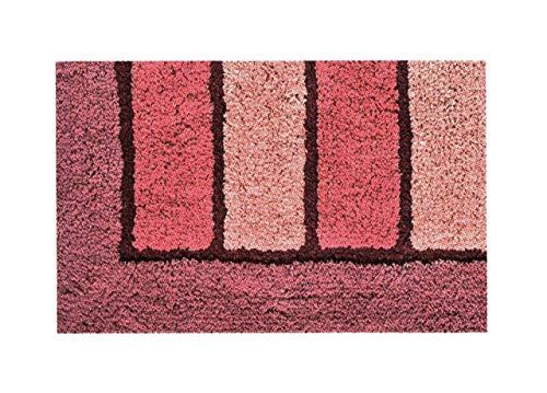 BIANCHERIAWEB Tappeto da Bagno Antiscivolo Disegno Line Colore Rosa 60x110 Rosa