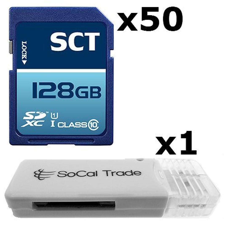 スクリーチ小切手解明する50パック?–?SCT SD XC 128?GBクラス10?UHS - 1安全デジタルUltimate Extreme速度SDXCメモリカード128?G 128?GBフラッシュGigs ( s.f128。rtx50.562?) Lot of 50?with USB Socal Trade ? SCT SDメモリカードリーダー?–?バルクパッケージ