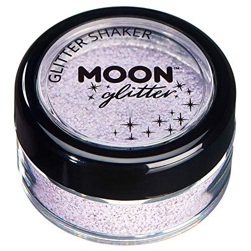 Secoueurs à paillettes pastel par Moon Glitter (Paillette Lune) – 100% de paillettes cosmétique pour le visage, le corps, les ongles, les cheveux et les lèvres - 3g - Lilas