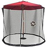 Rain Queen - Zanzariera per ombrellone, 300 x 230 cm, per ombrellone da giardino (nero)