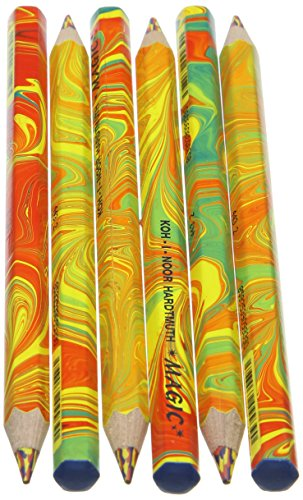 Koh-I-Noor Magic Malstifte, Jumbo-Größe spezielles Design, mehrere Farben, in Karton-Verpackung