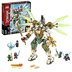 Build this posable titan mech ninja robot toy, with gripping hands, a spinning slicer/ shield, giant katana and a detachable minifigure flyer The highly posable robot ninja mech toy for kids additionally features a minifigure cockpit, adjustable wing...