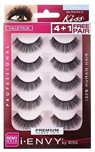 Kiss I Envy Juicy Volume 15 Value Pack 4+1 Lashes (2 Pack) by Kiss