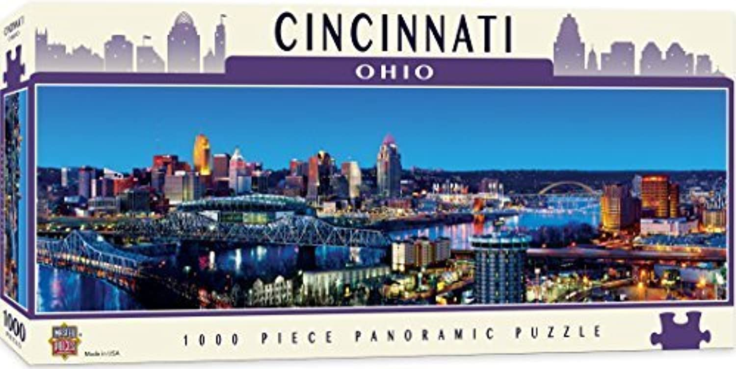 MasterPieces American Vistas Panoramic Cincinnati Puzzle (1000 Piece) by MasterPieces