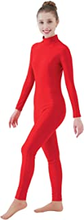 Womens Turtleneck Spandex Long Sleeve Front Zipper Footless Unitard