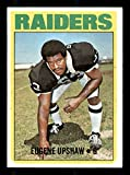 Gene Upshaw Rookie Card 1972 Topps #186. rookie card picture
