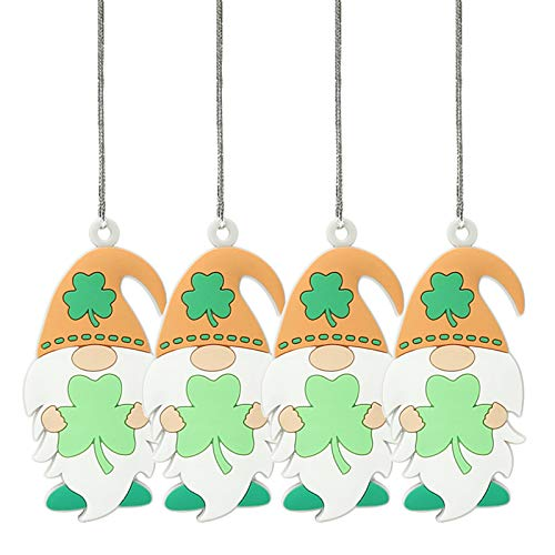 Moent Colgante decorativo para el día de San Patricio, colgante de llave, irlandés, día festivo, cumpleaños, aniversarios, bodas, festivales, fiestas, suministros (multicolor, 4 unidades)