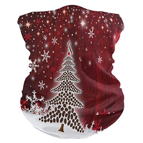 KDU Fashion Neck Gaiter, kerstboom patroon sneeuwvlok winter Magic hoofdband, winddichte 12-in-1 zweetbanden voor Gym Mountain Running