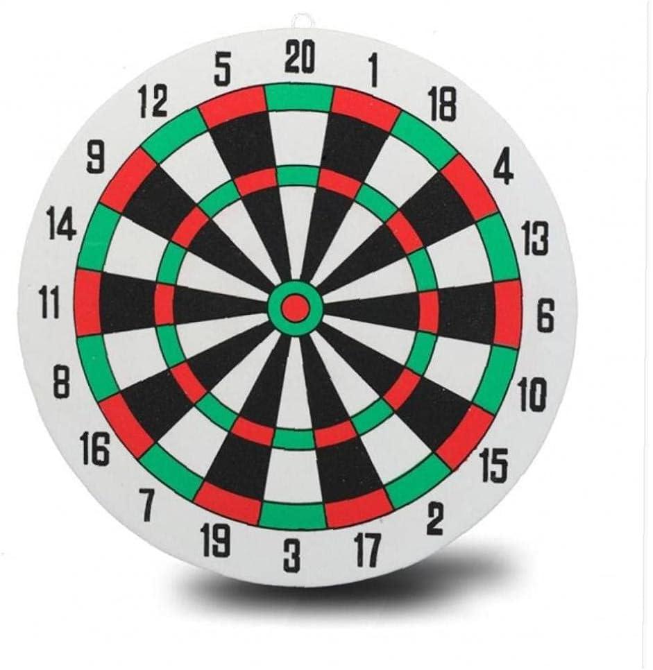 Diameter 29.5cm Darts Target +3 Darts Wall-Mounted Two-Sided Dua