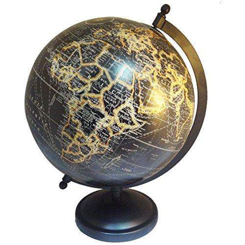 BambooTreeJewels Antik Stil Antik Schwarz handgefertigt Weltkarte Deko 20,3cm Kunststoff Globe...