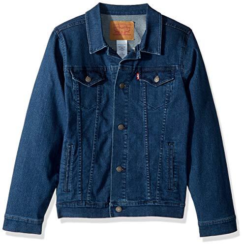 Levi's Boys' Big Denim Trucker Jacket, Two Tone, XL