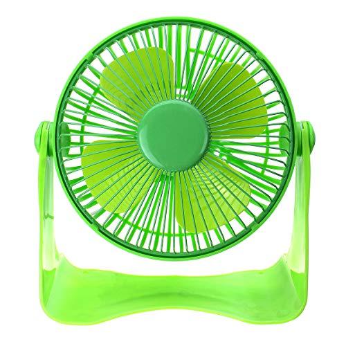 Ventilador de enfriamiento de 7 Pulgadas Recargable 5V Hoja DE Aluminio USB FANTING MANEJA Handy Small DE ESPERATORIO MINITILICIDAD ShenZhenShiXiangXiDengShiZhaoMingYouXian (Color : Green)