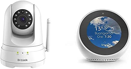 Echo Spot bianco + D-Link DCS-8525LH Telecamera di Sorveglianza Full HD, Wi-Fi N, Audio a Due Vie, Motorizzata, Funziona con Alexa - Trova i prezzi più bassi