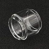 Qingtian-ceg 2 unids/Pack Tubos de Burbuja de Reemplazo de Bombilla para Arrastre 2 Uforce T2 Glass Tubo Pyrex Extendido Tubo de Reemplazo Convexo de Grasa Tubos de Burbuja,Sin Tabaco ni nicotina