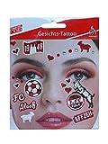 Gesichtstattoo ~ 1. FC Köln ~ Köln Tattoo Karneval Gesicht Sticker Fanartikel