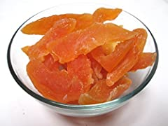 Natural dried chewy cantaloupe chunks, 16 oz bag. No Sulphite, Low sugar Tropical taste that is delicious and refreshing Try mixing with your favorite nuts for a tropical blend Healthy ingredient for baking, snacking, trail mixes etc...