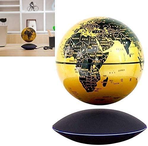 Qjkmgd Globo, Globo del Mundo 6 '' Globo Flotante Levitación magnética Globo rotativo para niños Regalo Inicio Oficina Decoración de Escritorio de Alta tecnología Regalo